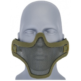 UK Arms Airsoft Tactical Metal Mesh Half Mask - GREEN