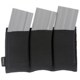 AMA Airsoft Triple M4 MOLLE Magazine Pouch - BLACK