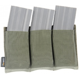 AMA Airsoft Triple M4 MOLLE Magazine Pouch - OLIVE DRAB