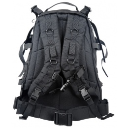 AMA Large 600D Polyester 3D Outdoor Backpack - BLACK