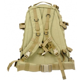 AMA Large 100D Polyester 3D Outdoor Backpack - TAN