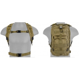 UK Arms Airsoft 600D Polyester Tactical Backpack - TAN