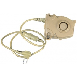 AMA Tactical Airsoft Z112 Motorola PTT - 2-Pin - DARK EARTH