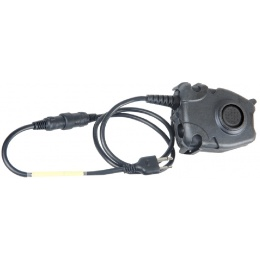 AMA Tactical Airsoft Z112 Peltor PTT - Midland Version - BLACK