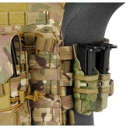 UK Arms Single Rifle/ Double Pistol Quick Detach Pouches - AT-FG