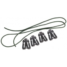 AMA Airsoft MOLLE Bungee Clip - 4 PACK - OLIVE DRAB
