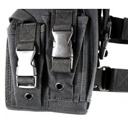 AMA Airsoft Large Frame Drop Leg Pistol Airsoft Holster - BLACK