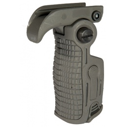 UK Arms Airsoft Ergonomic 90 Degree Foldable RIS Foregrip - FOLIAGE