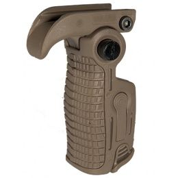 UK Arms Airsoft Ergonomic 90 Degree Foldable RIS Foregrip - TAN