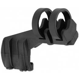 UK Arms Offset Flashlight Ring Mount (for Right Side) - BLACK