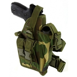 AMA Airsoft Large Frame Drop Leg Airsoft Pistol Holster - WOOD