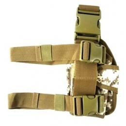 AMA Airsoft Universal Drop Leg WrapLock Pistol Holster - DESERT