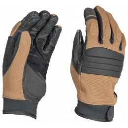 AMA Tactical Airsoft Tac-Ops Full Finger Gloves - TAN