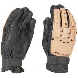 AMA Tactical Airsoft Hard Back Full Finger Gloves - TAN