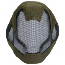 Airsoft V6 Strike Mesh Mask Helmet - OD GREEN