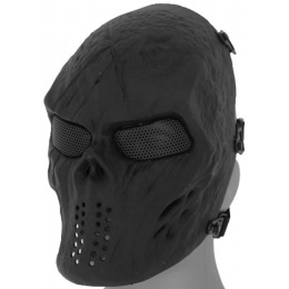 Airsoft Villain Skull Mesh Face Mask - BLACK