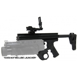 Lancer Tactical Airsoft RAS Platform for EGLM Launcher - BLACK