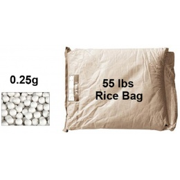 Lancer Tactical Airsoft 0.25g BBs Rice Bag - 55 lbs