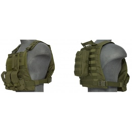 Lancer Tactical Airsoft MOLLE Plate Carrier w/ Pouch System - OD