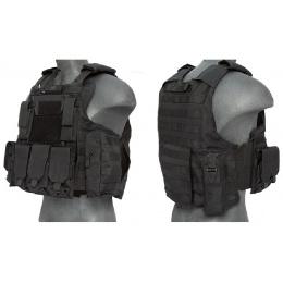 Lancer Tactical Airsoft Strike Tactical Vest - BLACK