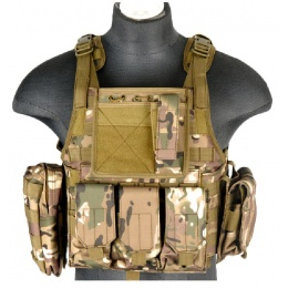 Lancer Tactical Airsoft Tactical Assault Plate Carrier - CAMO