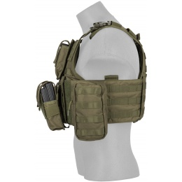 Lancer Tactical Airsoft Tactical Assault Plate Carrier - OLIVE DRAB