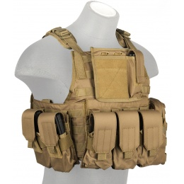 Lancer Tactical 600D Polyester Tactical Assault Plate Carrier - TAN