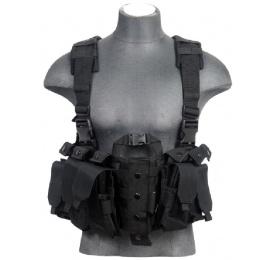 Lancer Tactical Airsoft M4 Chest Harness MOLLE Rig - BLACK
