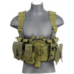 Lancer Tactical Airsoft M4 Chest Harness MOLLE Rig [Nylon] - OD GREEN