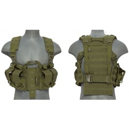 Lancer Tactical Airsoft M4 Chest Harness MOLLE Rig - OD