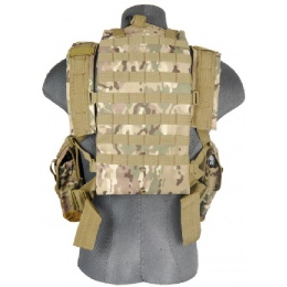 Lancer Tactical Airsoft M4 MOLLE Modular Chest Rig (Polyester) - CAMO