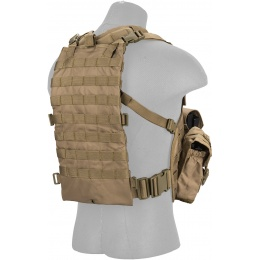 Lancer Tactical Airsoft M4 MOLLE Modular Chest Rig - TAN