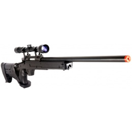 WELL Airsoft MB04 Bolt Action Rifle w/ Scope Adjustable Cheek Rest - BLACK
