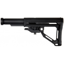 ICS Airsoft M4/M16 AEG Retractable MTR Stock w/ Buffer Tube - BLACK