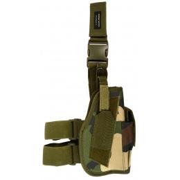 AMA Airsoft Drop Leg M9 / P226 / P229 Pistol Holster - WOODLAND