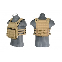 Lancer Tactical JPC Jumpable MOLLE Plate Carrier - COYOTE BROWN