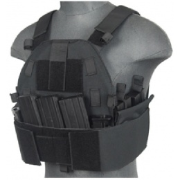 Lancer Tactical Airsoft SLK MOLLE Tactical Vest (Black)