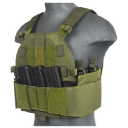 Lancer Tactical Airsoft SLK MOLLE Plate Carrier - OD GREEN
