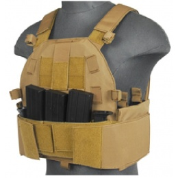 Lancer Tactical Airsoft SLK MOLLE Tactical Vest (Tan)