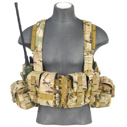 Lancer Tactical 600D Airsoft Load Bearing Chest Rig w/ Zipper
