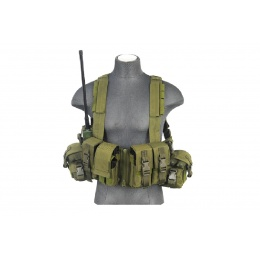 Lancer tactical T1G Load Bearing Chest Rig with Zipper - OD GREEN