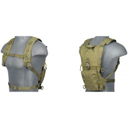 Lancer Tactical Lightweight Airsoft Hydration Pack - OD GREEN
