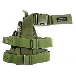 AMA Airsoft Drop Leg M9 / P226 / P229 Pistol Holster - DIGITAL WOOD