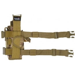 Lancer Tactical Airsoft Dropleg Holster Accessory - CAMO