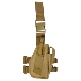 Lancer Tactical Airsoft Dropleg Polyester Holster Accessory - TAN