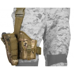 Lancer Tactical MOLLE Platform Dropleg Holster - CAMO