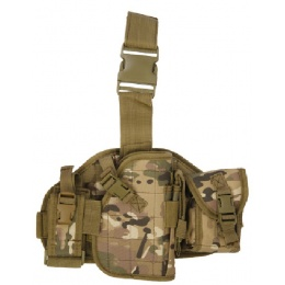 Lancer Tactical MOLLE Platform Dropleg Holster - CAMO