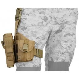 Lancer Tactical MOLLE Platform Dropleg Holster - TAN
