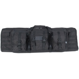 Lancer Tactical Airsoft 36-inch MOLLE Double Rifle Bag - BLACK