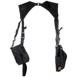 Lancer Tactical CA-349B Vertical Shoulder Holster - BLACK
